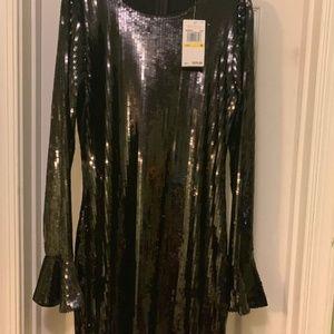 New W/ Tags Michael Kors Sequin Dress Black
